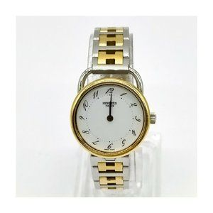 Hermes Watch ARSO operates normally 25mm Women's Whites X Silver